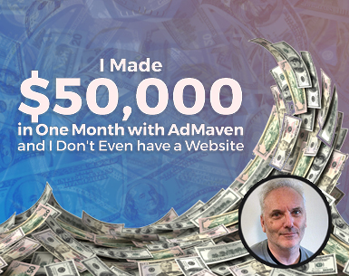 $50,000 earnings with ADMAVEN