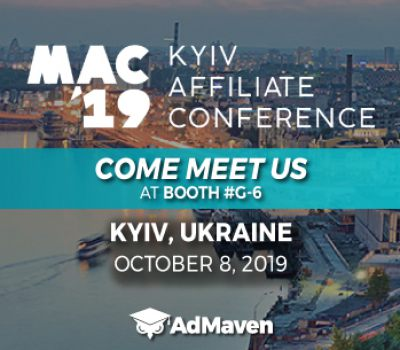 COME MEET US AT KYIV AFFILIATE CONFERENCE '19