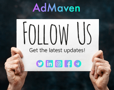 AdMaven social media profiles